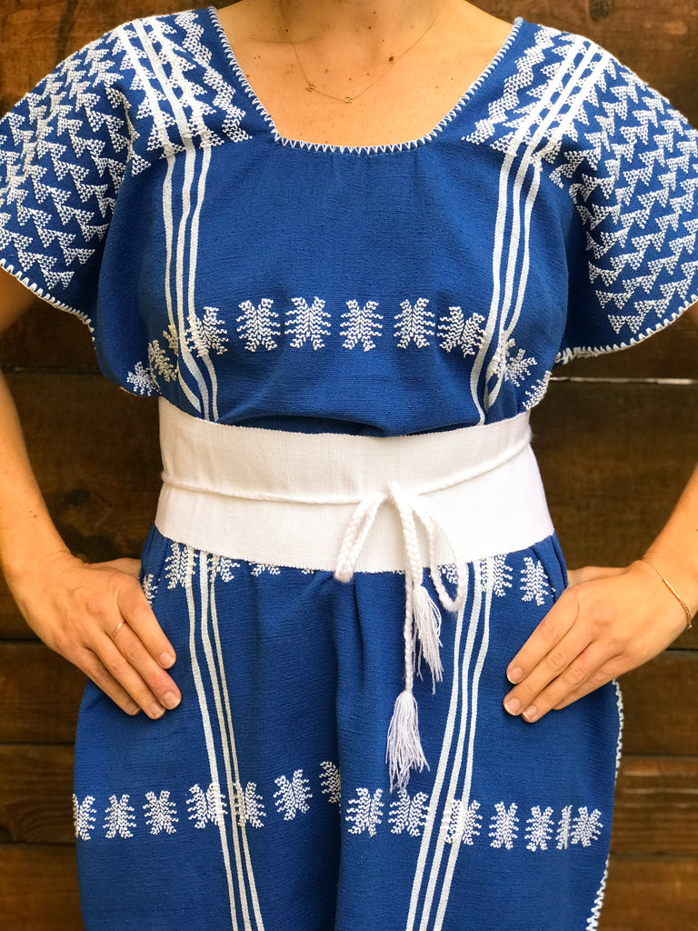 SAN JUAN CAFTAN // ROYAL BLUE + WHITE