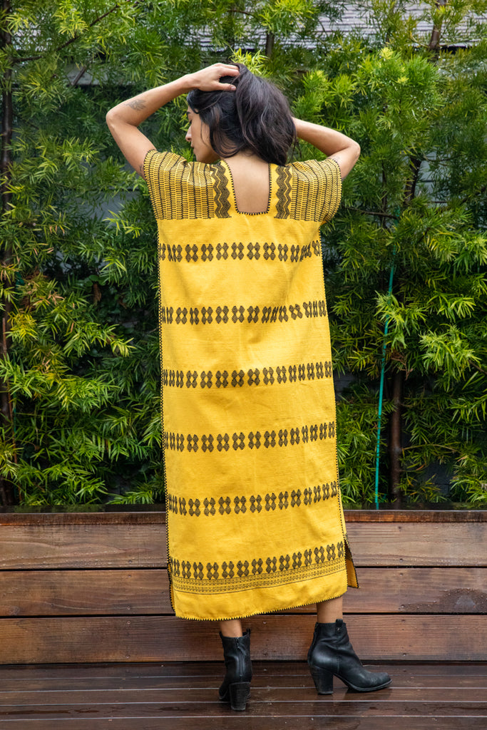 SAN JUAN CAFTAN // YELLOW + BLACK