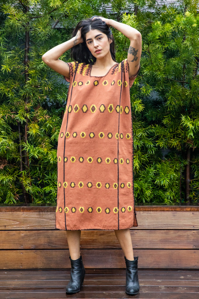 SAN JUAN CAFTAN //  CHESTNUT + YELLOW
