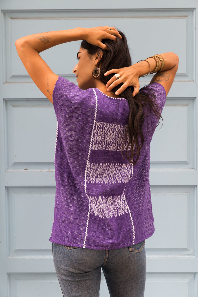 FRANCISCA TOP // PURPLE & WHITE