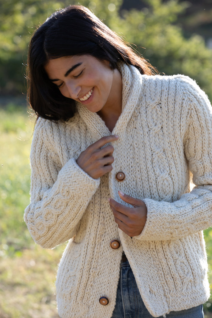 KNIT WOOL CARDIGAN