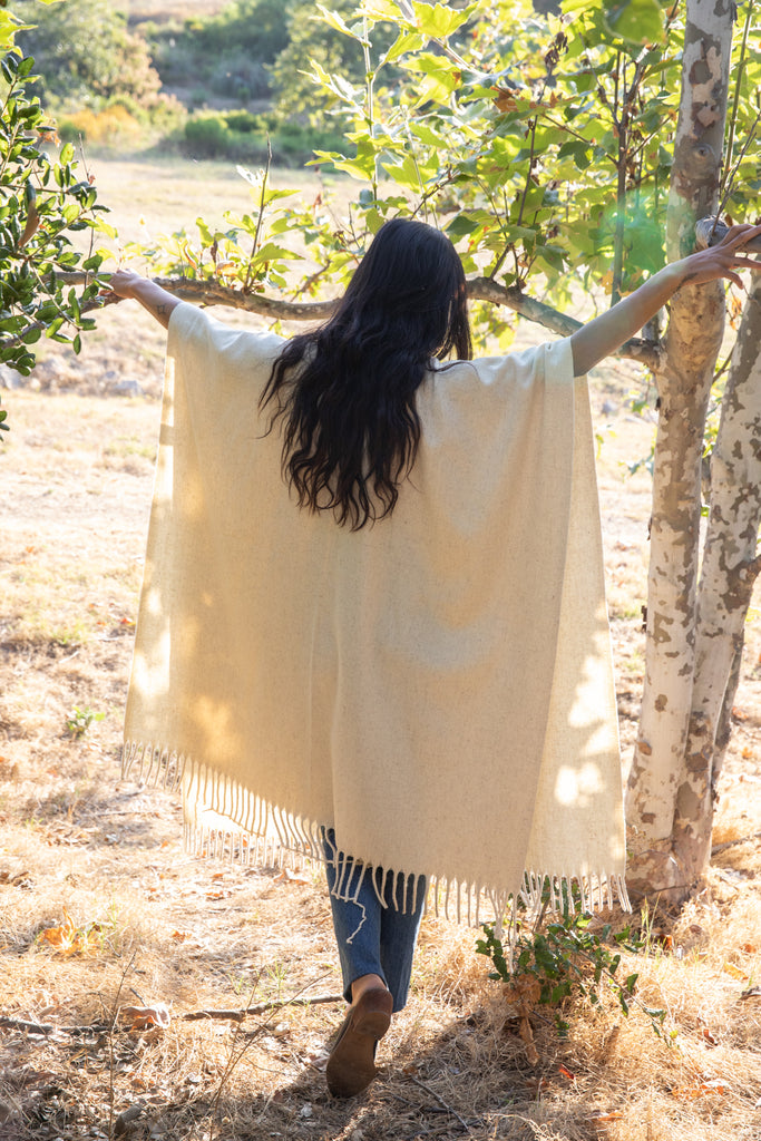 IVORY WOOL SHAWL