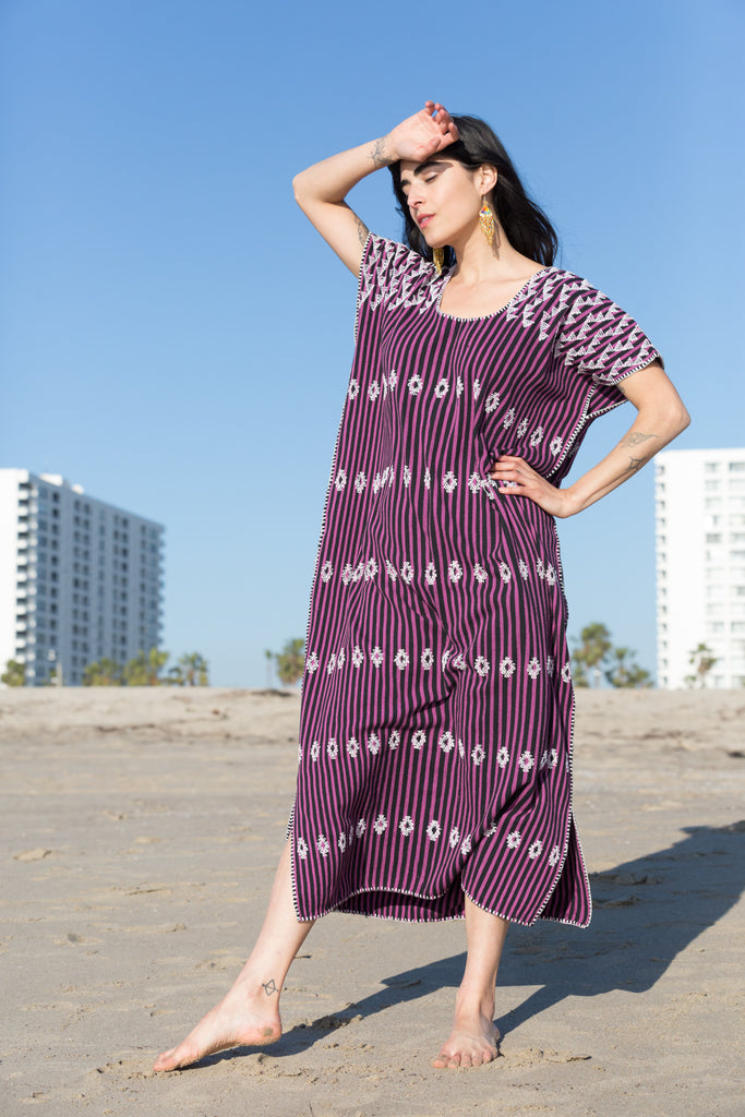 SAN JUAN CAFTAN // PURPLE WITH WHITE