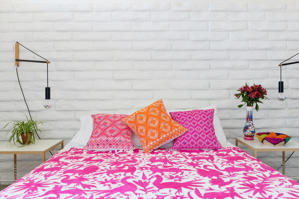 HOT PINK OTOMI TAPESTRY / TABLECLOTH