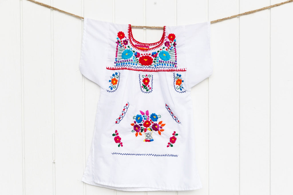 BABY + GIRLS TRADITIONAL MEXICAN DRESS 6M - 5/6T