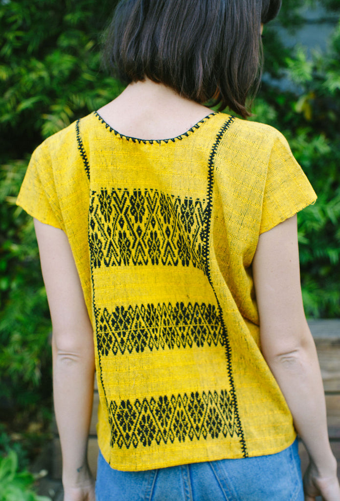 FRANCISCA CROP TOP // YELLOW WITH BLACK