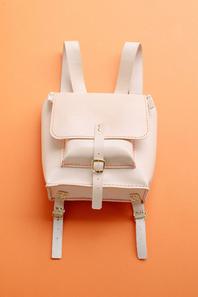 ISA LEATHER BACKPACK // NATURAL