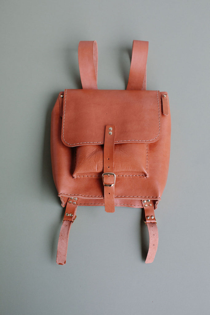 ISA LEATHER BACKPACK // CAMEL