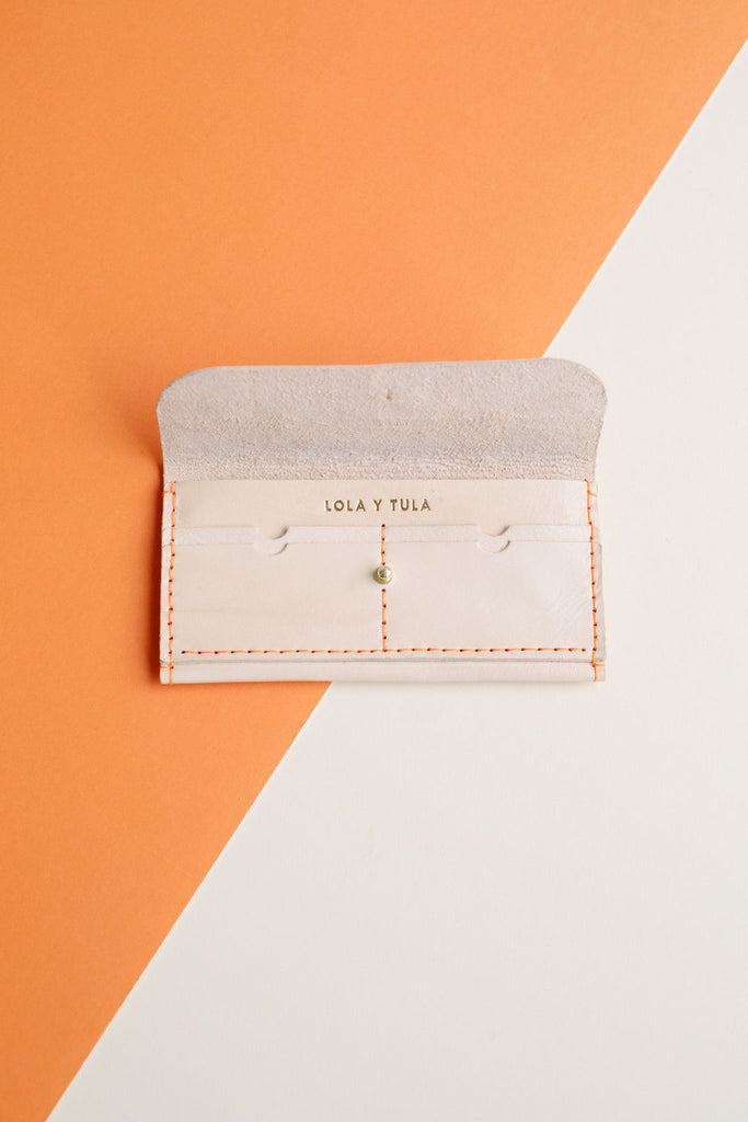 FULL SIZE LEATHER WALLET // NATURAL