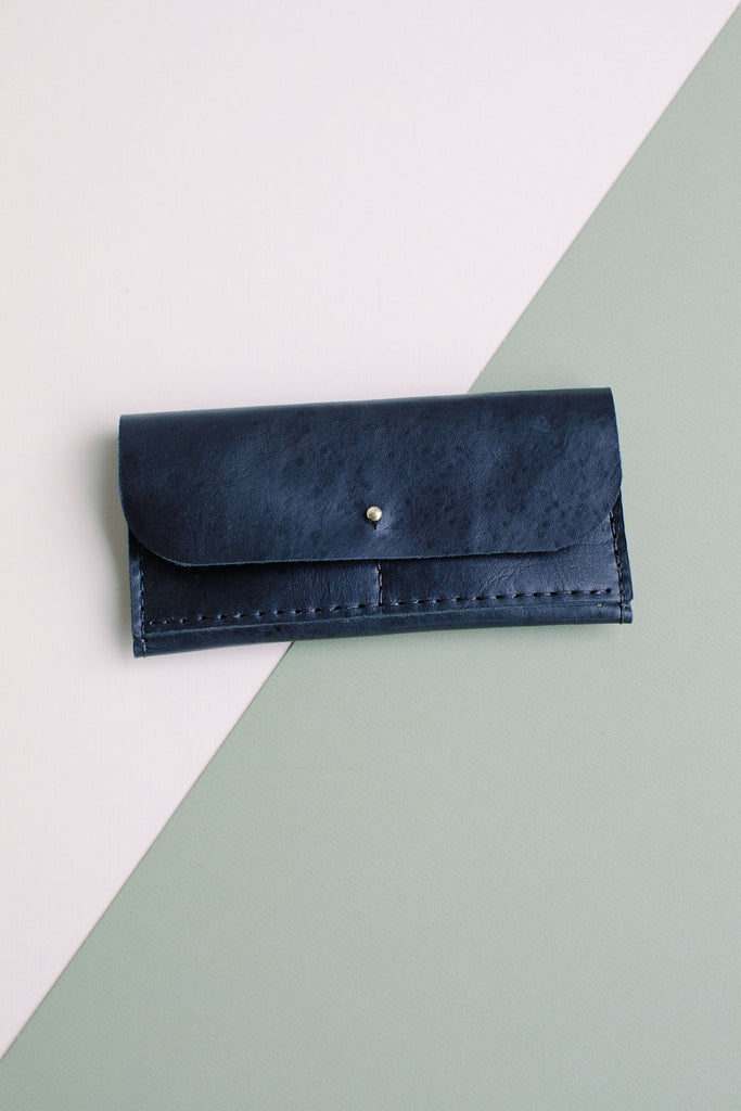 FULL SIZE LEATHER WALLET // BLACK