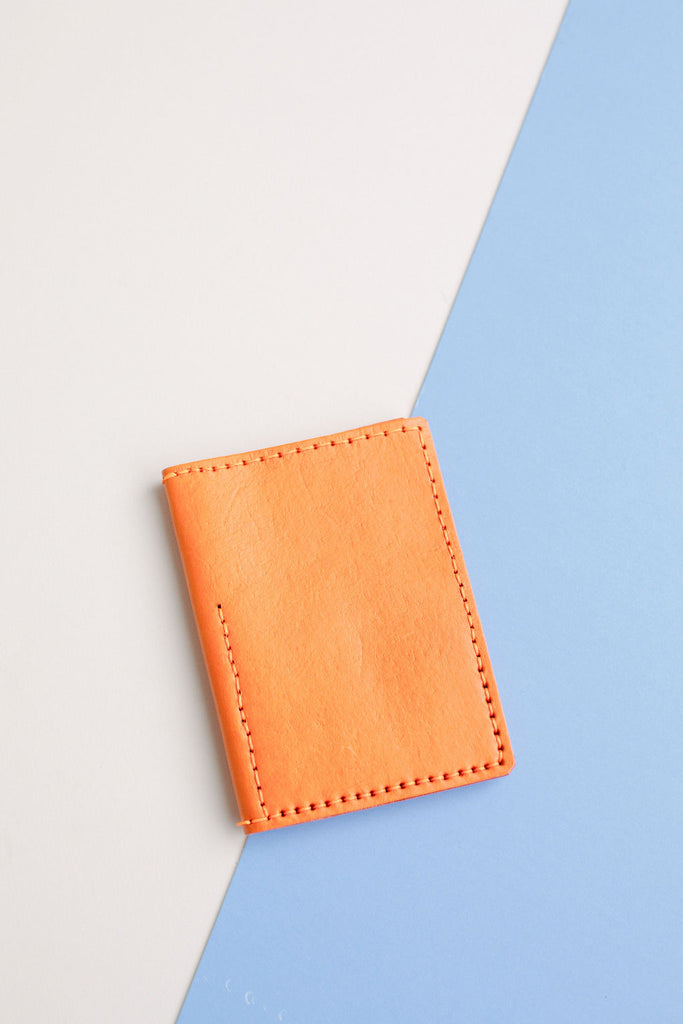 LEATHER PASSPORT CASE // TANGERINE