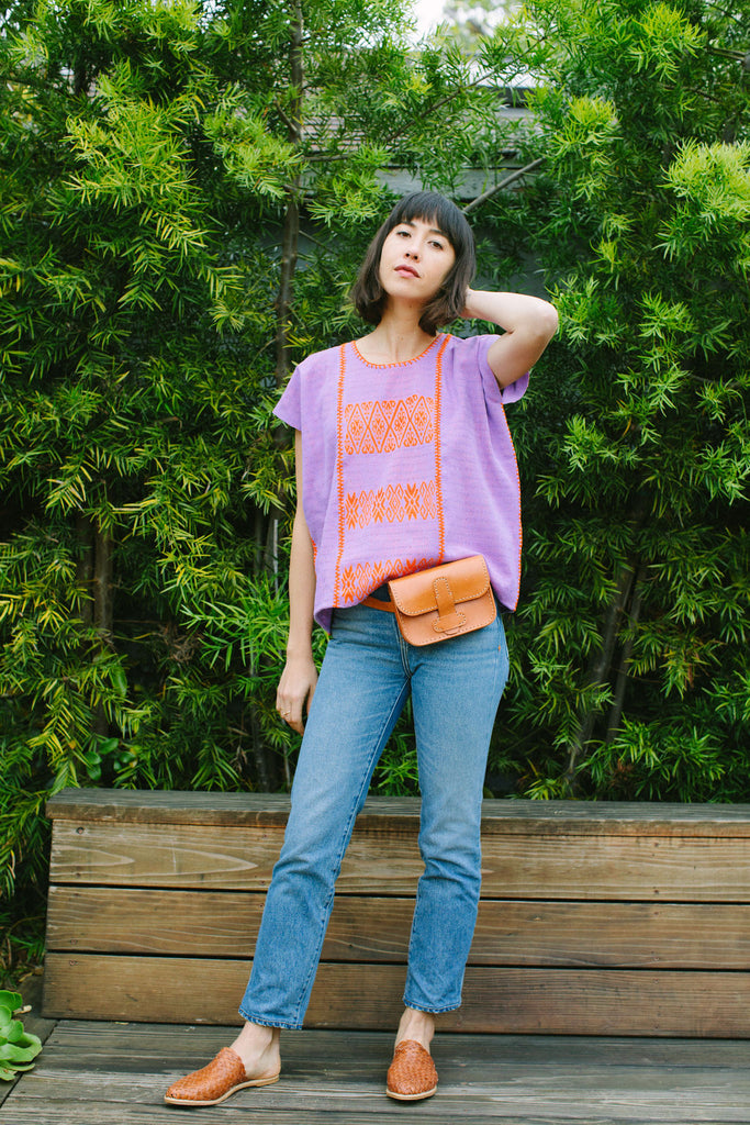 FRANCISCA CROP TOP // LILAC WITH TANGERINE