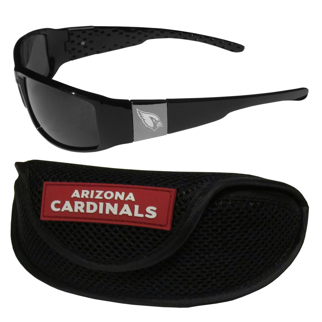 Arizona Cardinals Chrome Wrap Sunglasses and Sports Case