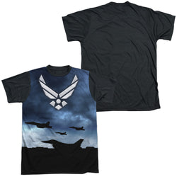 Short Sleeve Black Back Regular Fit T-Shirt - Air Force-Take Off - Adult