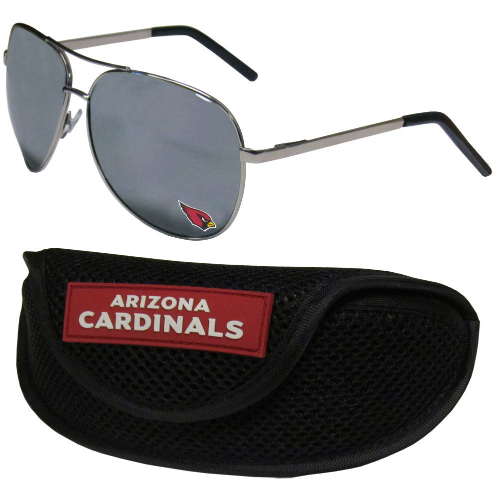 Arizona Cardinals Aviator Sunglasses and Sports Case