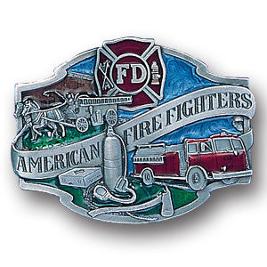 American Fire Fighters  Enameled Belt Buckle