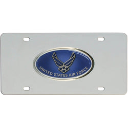 Air Force Steel License Plate - licensedsportsproducts