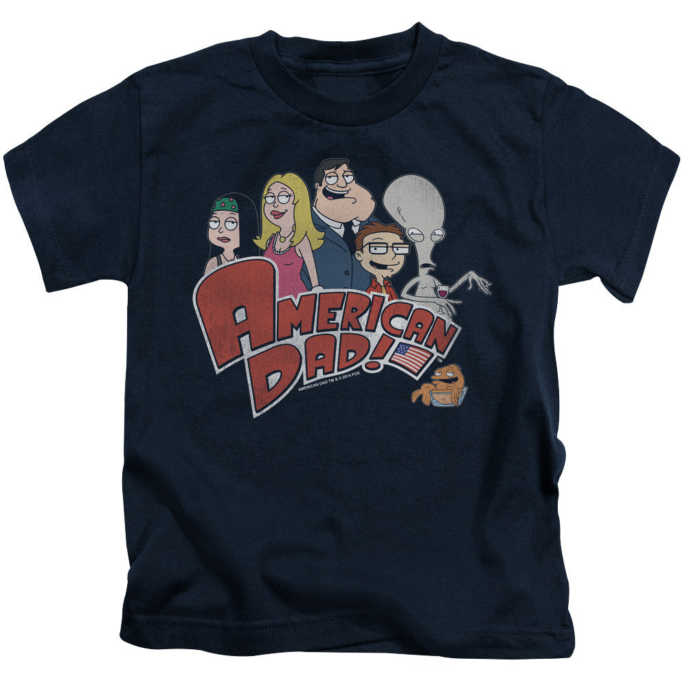 American Dad-Family Logo - Juvenile -  Short Sleeve T-Shirts