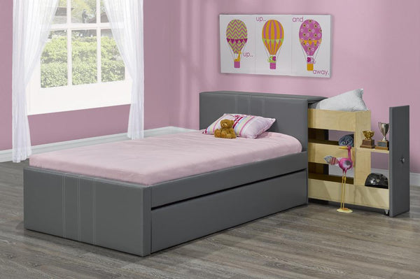 The Perfect Storage Bed with Pull-Out Side Drawer from headboard and Pull-Out Trundle