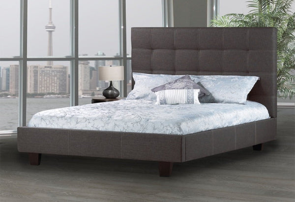 Comfortable Bed with Luxuriously padded headboard