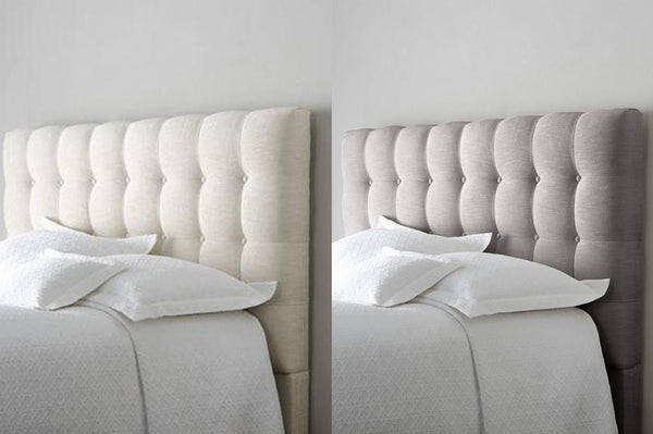 Beautifully hand-crafted bed with Button Effect