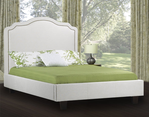Smart and Simple bed with Hand-applied Nailhead trim