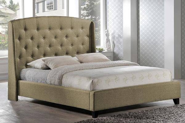 Dramatically styled bed with High profile Headboard