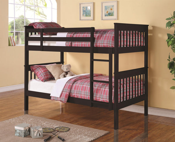 Espresso Twin/Twin Split-able Solid wood bunk bed
