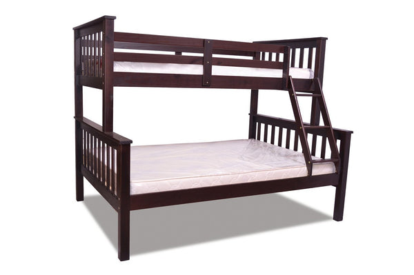 Espresso Finished Splittable Solid Wood Bunk Bed - Twin over Double