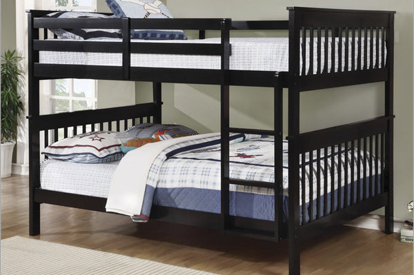 Espresso Double/Double Solid Wood Bunk Bed