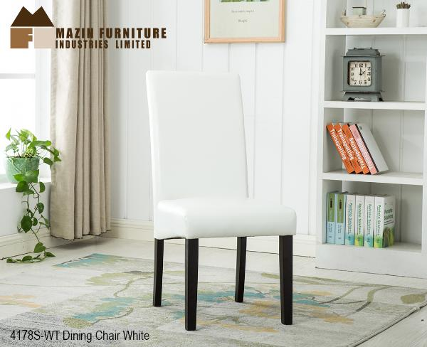 Parsons Dining Chair in Black, Brown, Pebbled Grey and White Leatherette