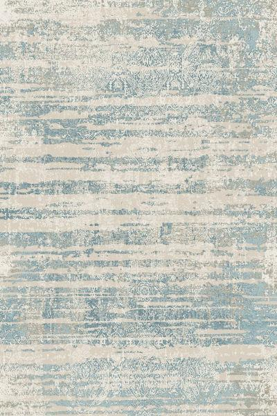 Dark Blue Distressed Abstract Rug