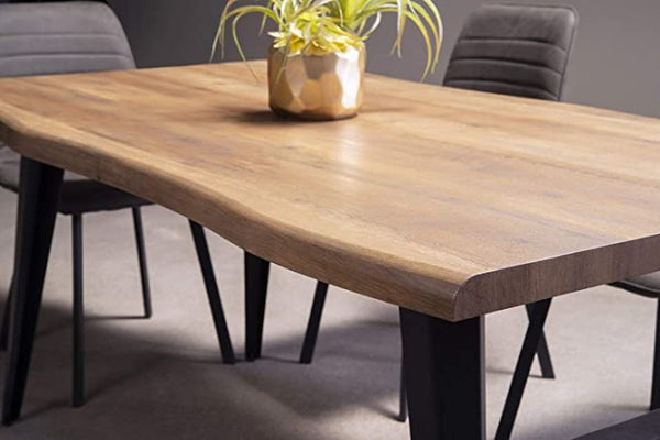 Contemporary 5 Piece Dining Set with Laminated Live Edge Table