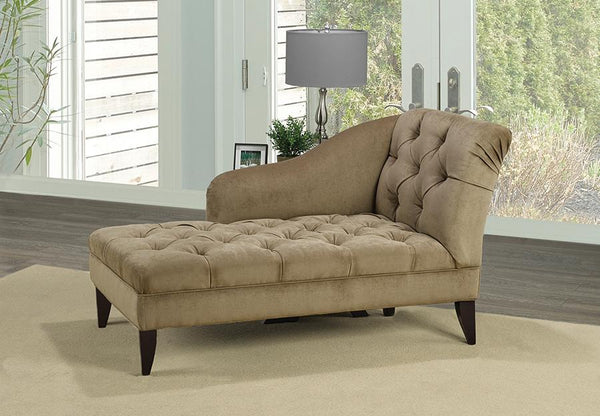 Right / Left Arm Facing Velvet-Style Fabric Chaise