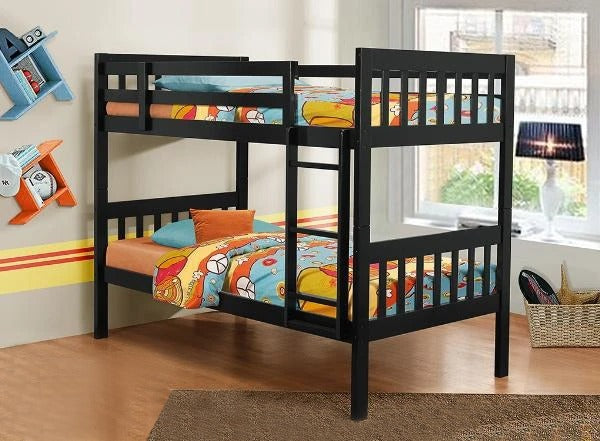 Espresso Single/Single Split-able Solid wood bunk bed