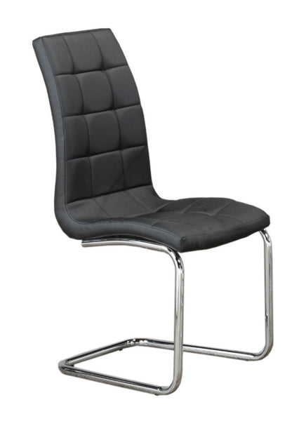 Upholstered Black Leatherette Bucket Dining Chair