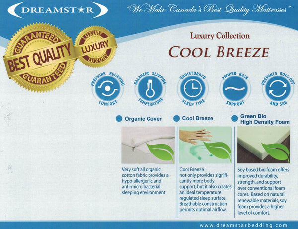 """Cool Breeze"" 10"" Cool Gel Memory Foam Mattress"