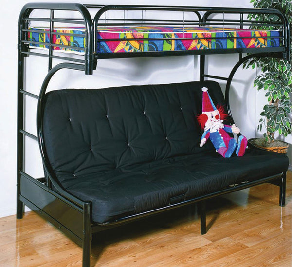 Black Metal Frame Futon Bunk bed