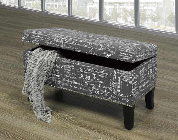 Fabric Covered Bench with Nail Heads and storage (4 Designs)