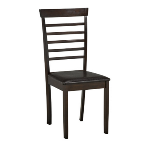 Black Cushion Dining Chair with Espresso Legs