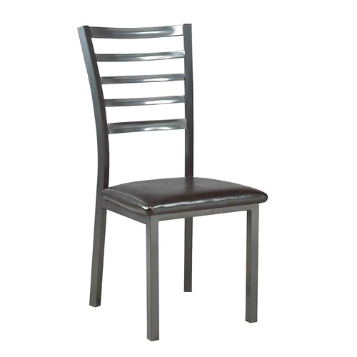 Grey Metal Dining Chair with PU Seats
