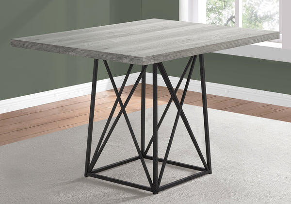 "Dining Table - 36""X 48"" / Grey Reclaimed Wood-Look/ Black"