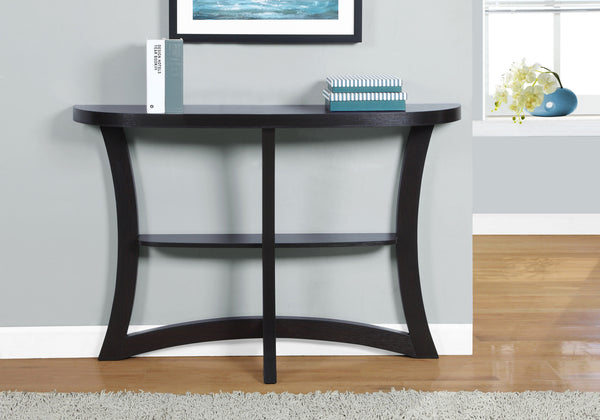 "Accent Table - 47""L / Cappuccino Hall Console"