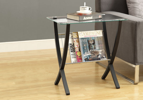 Accent Table - Cappuccino Bentwood With Tempered Glass