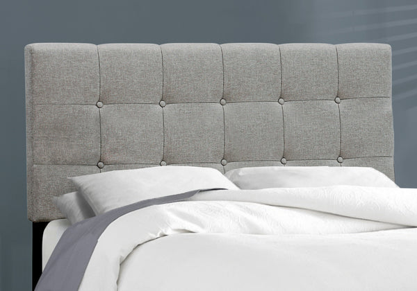 Bed - Full Size / Grey Linen