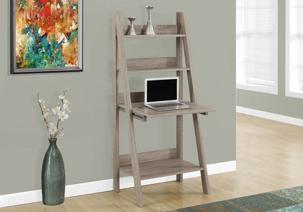 "Computer Desk - 61""H / Dark Taupe Ladder Style"