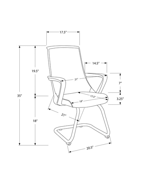 Office Chair - 2Pcs / Guest Black Mesh Mid-Back