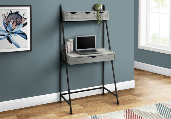 "COMPUTER DESK - 32""L / GREY / BLACK METAL"