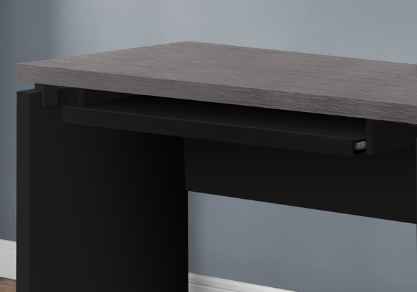 "Computer Desk - 48""L / Black / Grey Top"