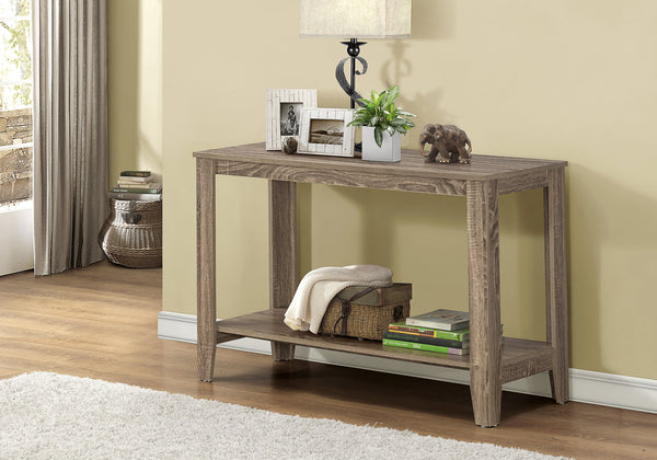 "Accent Table - 44""L / Dark Taupe Hall Console"